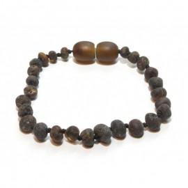 Raw baltic amber baby teething anklet bracelet.