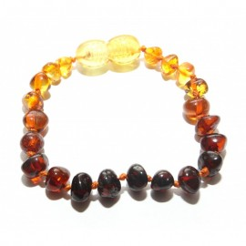 Baltic amber baby teething anklet bracelet