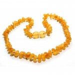 Raw baltic amber baby teething necklace.