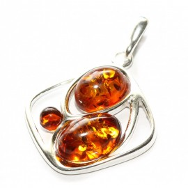 Baltic amber & sterling silver 925 pendant