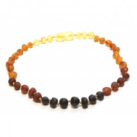 Raw baltic amber anklet bracelet for adult