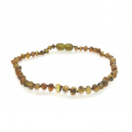 Raw baltic amber baby teething necklace/anklet for adult