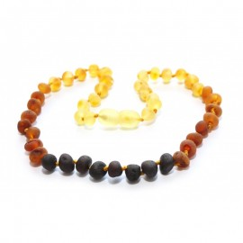 Raw baltic amber baby teething necklace