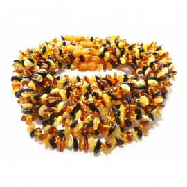Wholesale lot of 10 baby teething baltic amber necklaces.