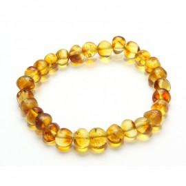 Baltic amber beads stretch bracelet