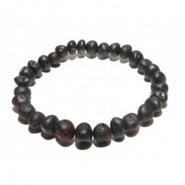 Raw baltic amber stretch bracelet