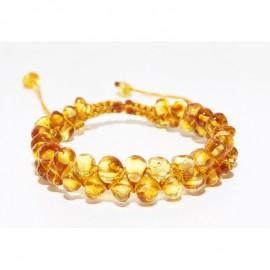 Baltic amber adjustable bracelet