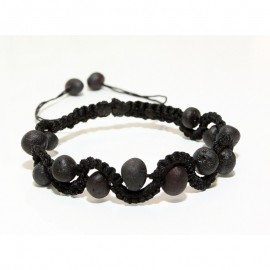 Raw baltic amber adjustable bracelet
