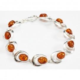 Baltic amber & sterling silver 925 bracelet.
