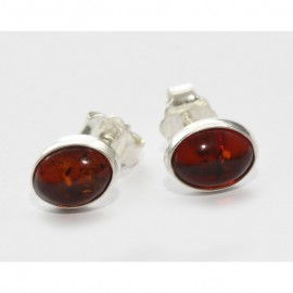 Baltic amber silver 925 studs earrings