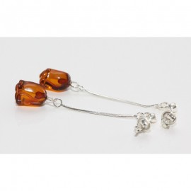 Baltic amber sterling silver 925 studs earrings