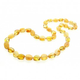 Raw/polished baltic amber necklace