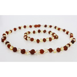 Authentic raw/polished baltic amber necklace and bracelet set.